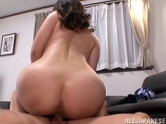 Sizzling Japanese mom strips and demonstrates her beautiful body to some guy. Then she allows him to play with her coochie and they have sex in cowgirl and many other positions.