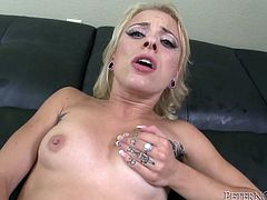 She gets fucked in her perfect juicy ass by enormous big cock and she definitely loves it. Then she gets banged lyuing on the leather couch in steamy Fame Digital xxx video!
