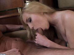 Blonde Nataly Von is on the way to the height of pleasure with hard cocked dude