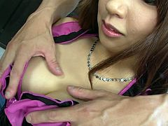 Watch this busty and kinky hottie's wet and tight pussy getting banged by her new friend in the bedroom in JavHD sex clips.