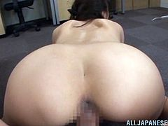 Japanese slut Saki Kouzai invites wild dude to fuck her hairy pussy hard. This insane man wrecked her mouth and destroyed that bush.