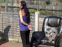 Pregnant neighbour washing car (non nude)