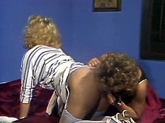 Two brazen blonde whores get their wet cunts fucked in missionary and doggy poses. Dirty chicks give blowjob and get messy facials. Then two curvy lesbo blondies poke their hairy cunts with vibrator.