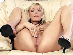 Lovely harlot Sophie Cox with smooth snatch is curious about getting naked on cam