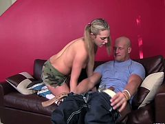 Bailey Blue is with her step dad and wants to get dirty. This cute little thing decides she's going to eat her dad's asshole. She gets down on her knees, gives a nice blowjob, then gives a great rimjob. The ponytailed cutie knows how to please papa.