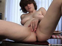 Stella E bares all and masturbates with sex toy