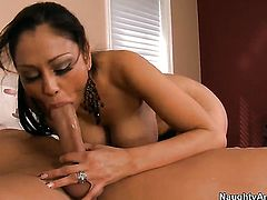 Christian explores the depth of mouth-watering Priya Anjali Rais wet hole with his fuck stick