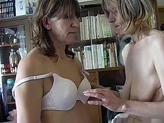 Beat your cock on two lusty lesbian grannies licking each other's soft tits and furiously rubbing each other's loose cunts with their hands.