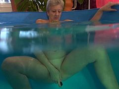 Watch this old horny babe masturbating her not so tight but still wet pussy in Old Nanny sex clips.