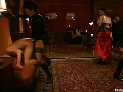 Kinky girls suck their master's dick and get fucked