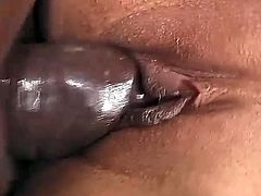This black shemale is getting her dick sucked and then bending a blonde over to fuck doggystyle. She gives it to her real good
