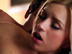Lexi Belle gives mouthjob to hot guy