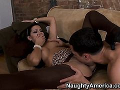 Ann Marie Rios fucks the sperm out of Mikey Butders's love stick