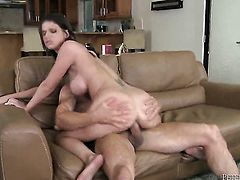 Brooklyn Chase blows the cum out of Peter Norths rod