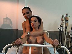 Brunette Vivien Bianchy is hungry for lesbian sex and gets used by Mandy Bright