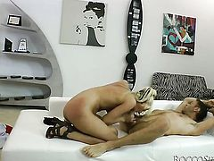 White Angel is on fire in hardcore action with hard cocked bang buddy