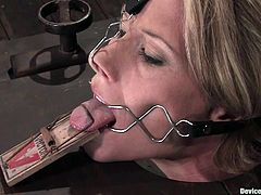 This lusty and sexy babe Ariel X is being tortured in the wild device bondage BDSM. Only hot and sexy babes are tortured on our free porn site!