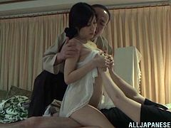 Get a load of this hardcore video where the smoking hot Asian milf Chihiro Akino is fucked by her husband after telling her to meet her upstairs.