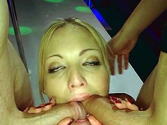 Impressive babes are playing really wild during top gang bang porn show