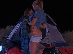 This horny campers are having great sex in nature. They knows what makes them horny and satisfy. Enjoy watching this couple in outdoor sex.