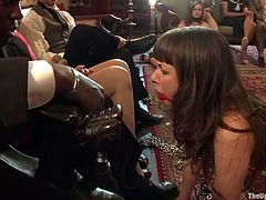 Two girls get tied up and gagged by their master