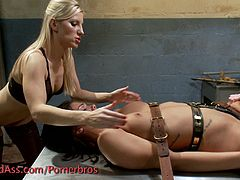 This tease and denial psyche ward video plays out with brutal vibrator torment and finger banging through the small access hole in the chastity belt ending only in a brutal orgasm denial.
