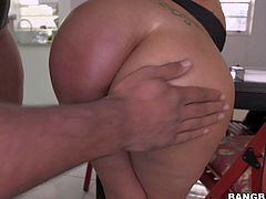 Experienced playful and naughty cougars with big tits and great seductive skills get naked and tease randy dude in point of view with oiled round jaw dropping asses.