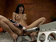 Hot Gia Dimarco Loves to Be Fucked Hard by Machines