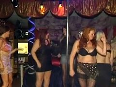 Here are some fat ladies and they are going to rock out the orgy! Some men come to please them and they must have paid them.