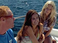 Such beautiful girls are perfect companions. These smoking hot bitches are on the yacht with us and when they are not revealing their personalities they reveal those hot tits and shaved cunts. Wanna go in a trip with them?