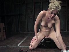 Fayth Deluca was feeling horny today and nothing like a bunch of fucking machines to give her pleasure in many different ways.