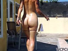 Gorgeous asian babe gets her wet  pussy fucked hard and deep by a black schlong. She eats that cock and then moans hard while he drills her asian cunt.