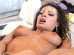Tory Lane and Vanessa Lane are two nasty lesbians. These wet chicks with juicy tits have rough lesbian sex.