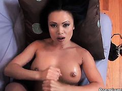 Mya Luanna proves that she can give handjob like no other
