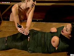 Adrianna Luna gets clothespinned and toyed by her teacher