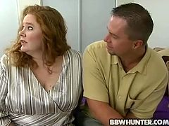 Big busty bitch giving lucky dude amazing titjob. Her big melons are bouncing around while he fucks that fat cunt hard and deep.