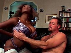 Sexy girl will moan extremely loud until you understand how deep the cock gets into her tight pussy.This hot black chick fucked in the pussy and ass by a hard white tool before he squirts a load all over her face.