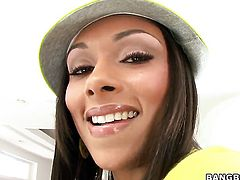 Bethany Benz with big ass makes mans sexual fantasies come true with her help of her soft hands