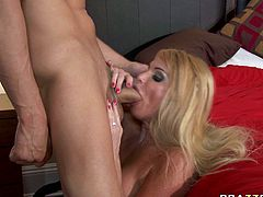 Horny guy polishes her cunt and she sucks her nipples at the same time. Be pleased with hot and exciting Brazzers sex tube video right here and right now.