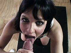 Bobbi Starr gets her mouth fucked silly by fuck hungry Mark Wood before butthole fucking