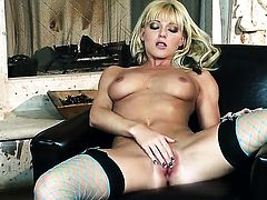 Niki Young is ready to dildo fuck her wet spot for cam from dusk till dawn