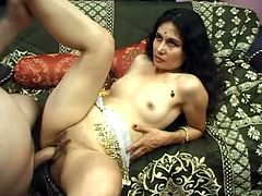 Get wild watching this Indian lady, with small tits and a smooth coochie, while she gets drilled in different positions. Adaza loves playing dirty!