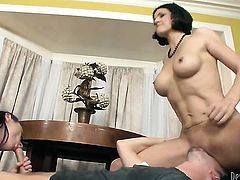 Sonny Hicks fucks incredibly hot Sonya Sages mouth just like crazy
