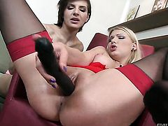 Lucy Heart and Nina Clark have a nice time fingering each others bush