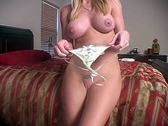 Captivating blonde chick Allie fingers her vag passionately and then takes a ride on a fucking machine. She gets a great orgasm and goes to the bathroom to shave her pussy afterwards.