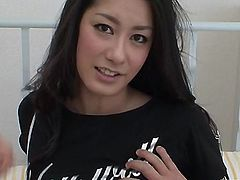 Japanese chick Ishiguro cock bang on her ass