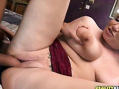 Blonde Rachel Love getting face drilled by Voodoos erect fuck stick