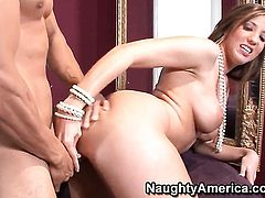 Marco Rivera explores the depth of lustful Kelly Divines cornhole with his ram rod