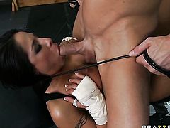 Jenaveve Jolie with small butt gets turned on then boned by Johnny Sinss sturdy snake