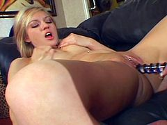 This busty mature with glasses seduces an innocent blonde into pussy play. She fingers her tight, fresh pussy and licks her clit before she shoves a dildo in.